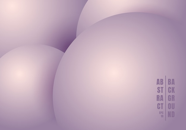 Abstract 3d realistic liquid circles purple background