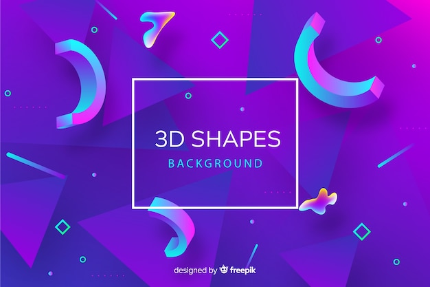 Abstract 3d shapes background