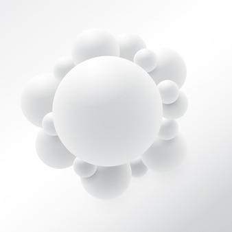 Abstract 3d sphere design. 3d molecules concept, atoms. on white background