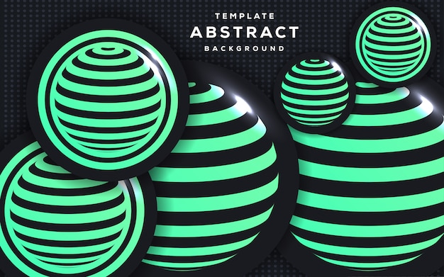 Abstract 3d style with sphere background