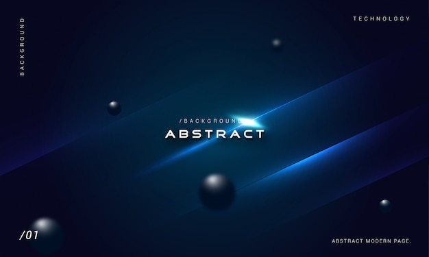Abstract 3d stylish geometric blue background