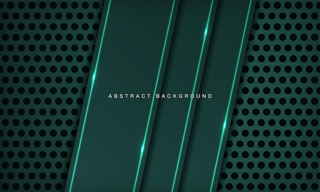 Abstract 3d technology background overlap layer on circle texture with green light effect decoratio