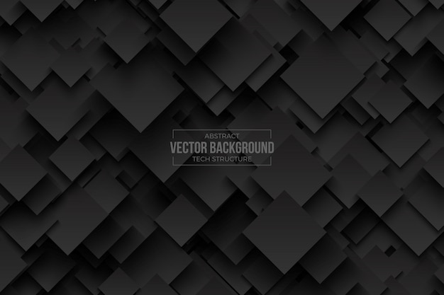 Abstract 3d technology dark gray vector background