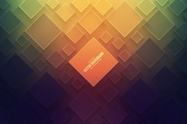 Abstract 3d technology vector background