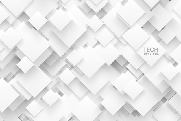 Abstract 3d technology white vector background