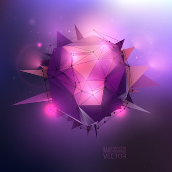 Abstract 3d vector conceptual background