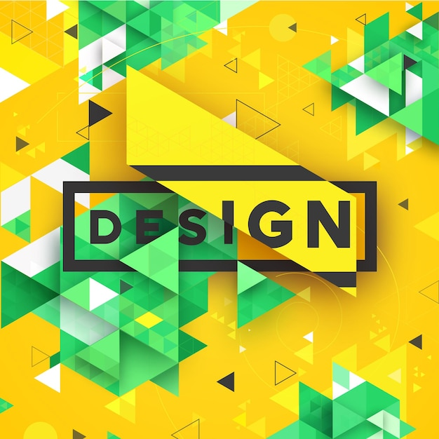 Abstract 3d vector geometrical triangular textured bright background for design business print