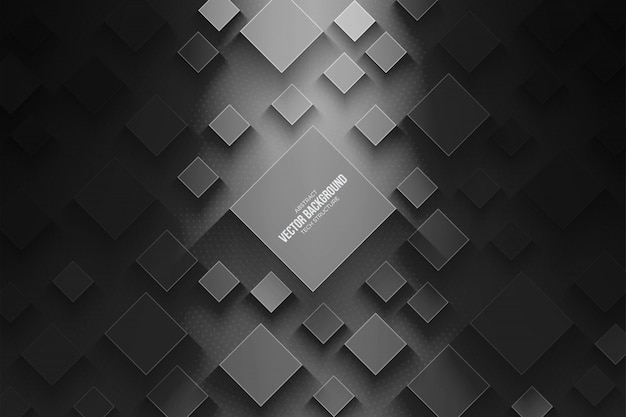 Abstract 3d vector technology gray background