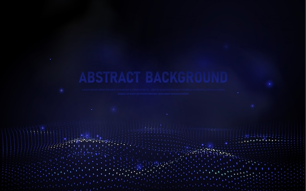 Abstract 3d wave background