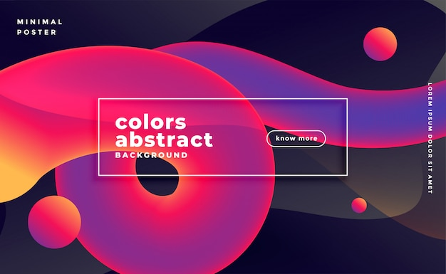 Abstract 3d wave fluid motion banner in vibrant colors
