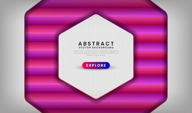 Abstract 3d white background overlap layer with colorful gradient shapes geometric with mixing pink and purple color