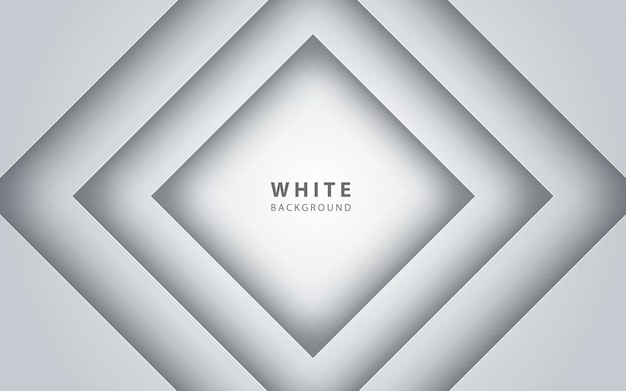 Abstract 3d white square papercut background