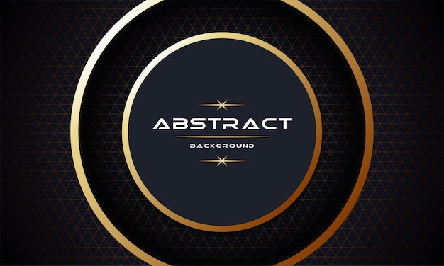 Abstract 3d with gold paper layers background template design