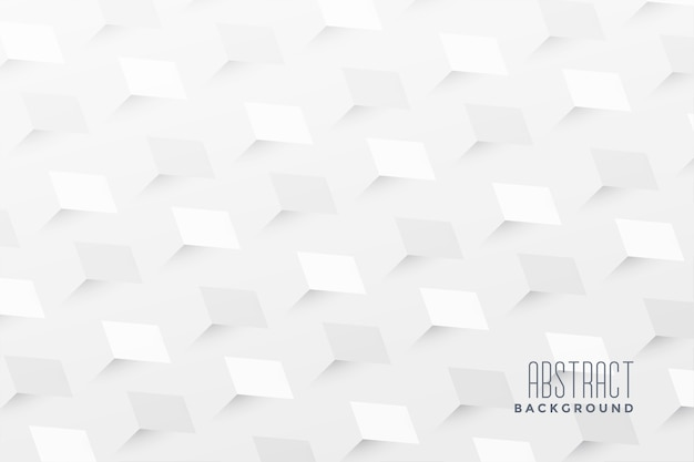 Abstract 3d zigzag style white background