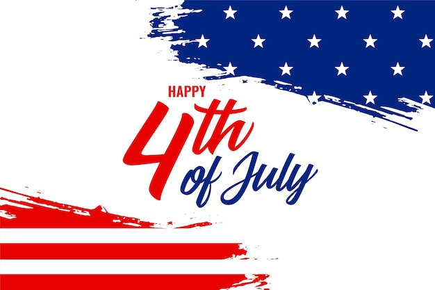 7 월 미국 국기 배너의 추상 4