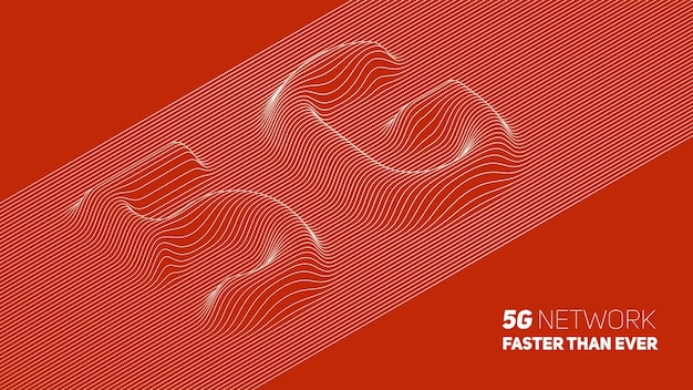 Abstract 5g new wireless internet connection background.