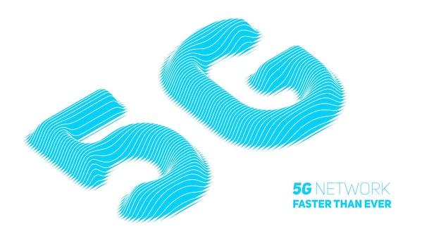 抽象5g新しいワイヤレスインターネット接続の背景