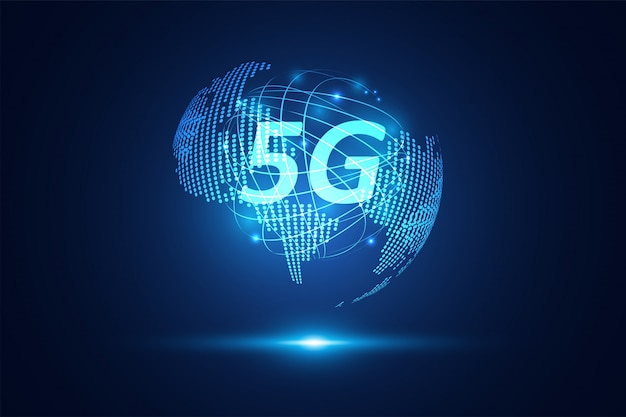 Abstract 5g wireless internet wifi network technology