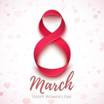 초록 3 월 8 일. 국제 여성의 날 배경.