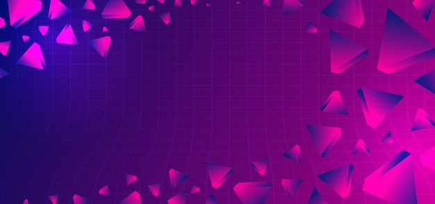 Abstract 80s background with geometric ultra violet colors