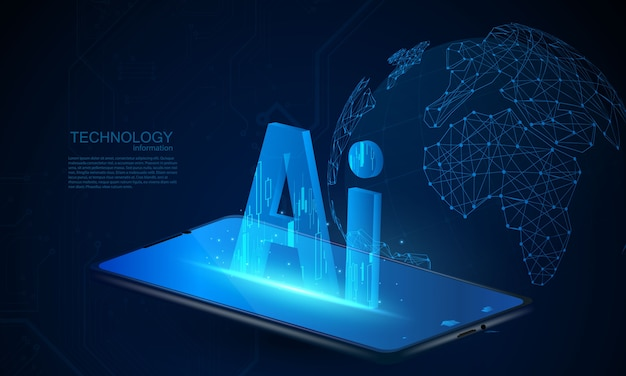 Abstract ai technology communication concept background