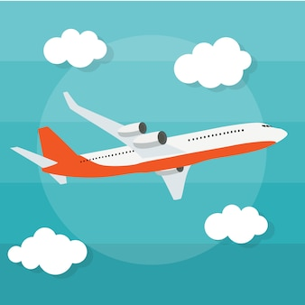 Abstract airplane background  illustration
