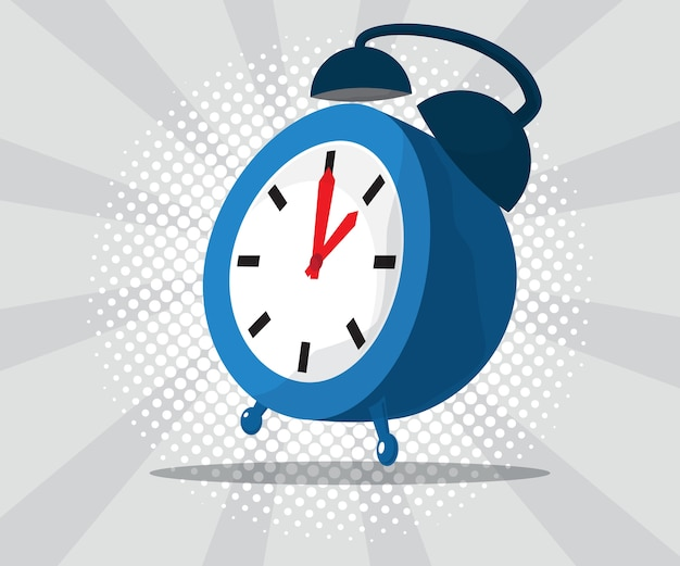 Abstract alarm clock with burst and halftone background