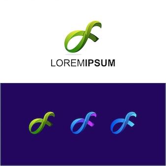 Abstract alpha gradient logo