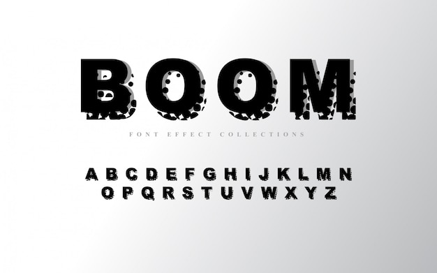 Abstract alphabet font template