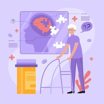 Illustrazione astratta di concetto di alzheimer