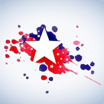 Абстрактный американский флаг фон