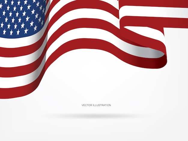 Abstract american flag for background.