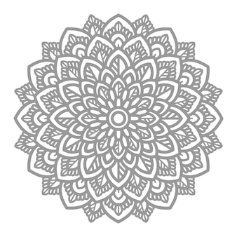 Абстрактные и декоративные цветочные иллюстрации мандалы в этническом восточном стиле