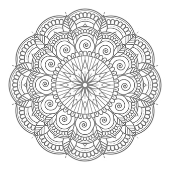 Абстрактная и декоративная круглая круглая цветочная мандала иллюстрация