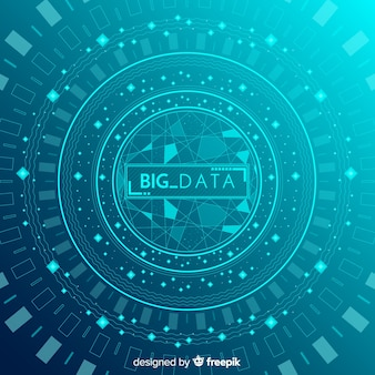 Abstract and modern big data background design
