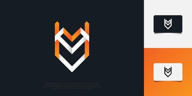 Абстрактный и современный дизайн логотипа буква v и u в белом и оранжевом градиенте. vu или уф шаблон дизайна логотипа вензеля. графический символ алфавита для фирменного стиля