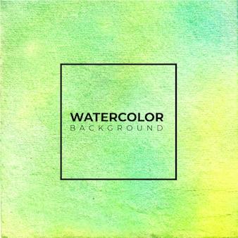 抽象的で黄色の水彩画の背景。