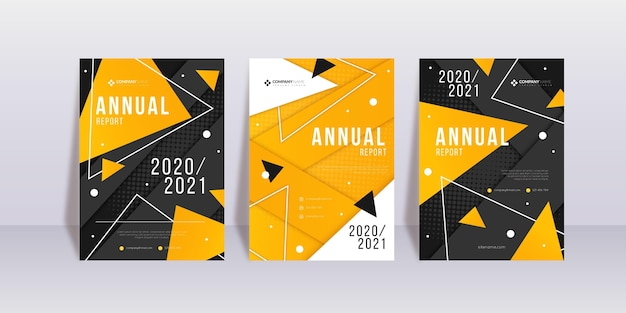 Abstract annual report 2020/2021 template set