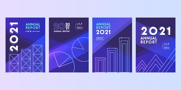Abstract annual report 2020-2021 templates