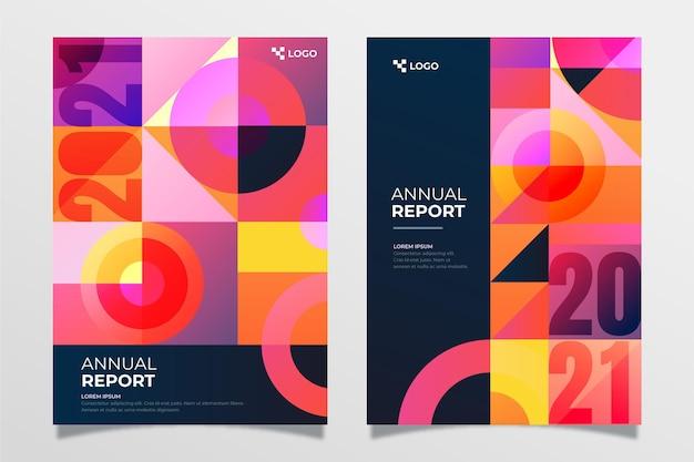 추상 연례 보고서 2020/2021 템플릿