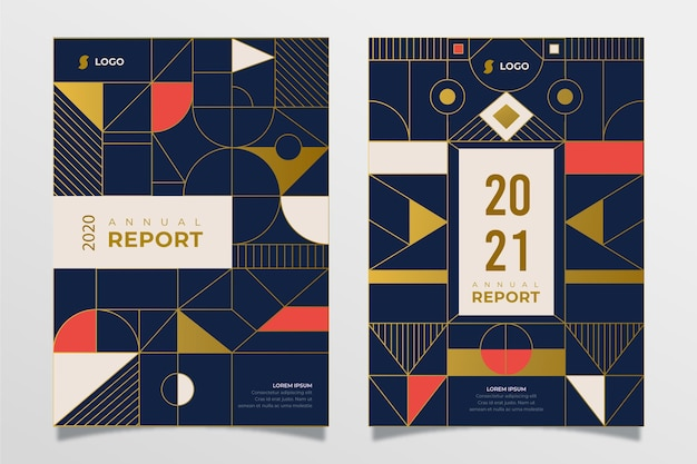Abstract annual report 2020/2021 templates
