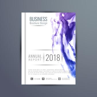 抽象年次報告書のパンフレットのテンプレート