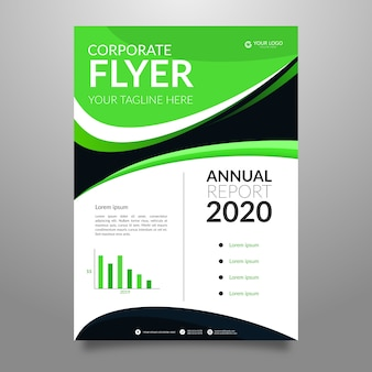 Abstract annual report corporate flyer