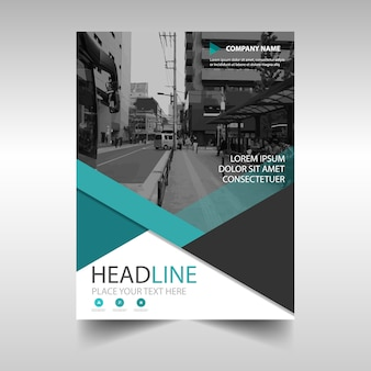 Abstract annual report cover template