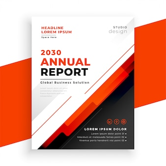 Abstract annual report red flyer template design