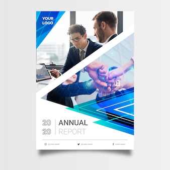 Abstract annual report template for business
