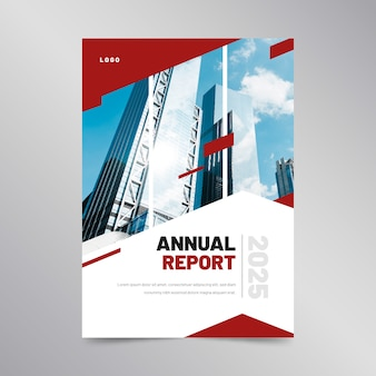 Abstract annual report template concept