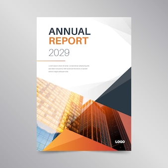 Abstract annual report template design