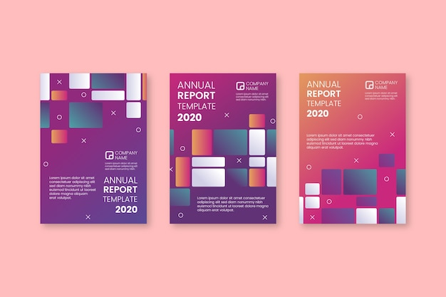 Abstract annual report template set