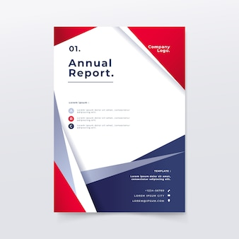 Abstract annual report template with colors